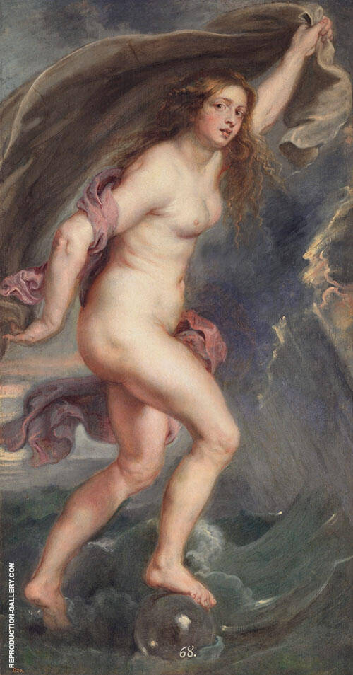 Fortune c1636 Painting By Peter Paul Rubens - Reproduction Gallery