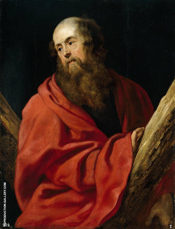St. Andrew  c1610 By Peter Paul Rubens