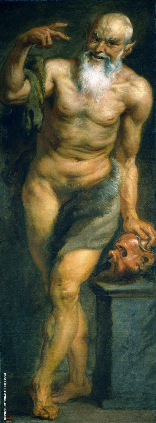 The Satyr Painting By Peter Paul Rubens - Reproduction Gallery