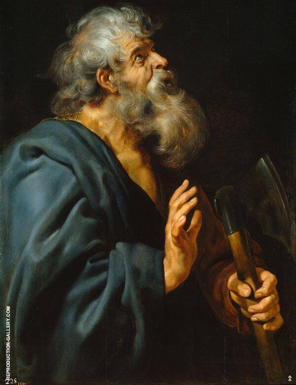 Saint Matthias By Peter Paul Rubens