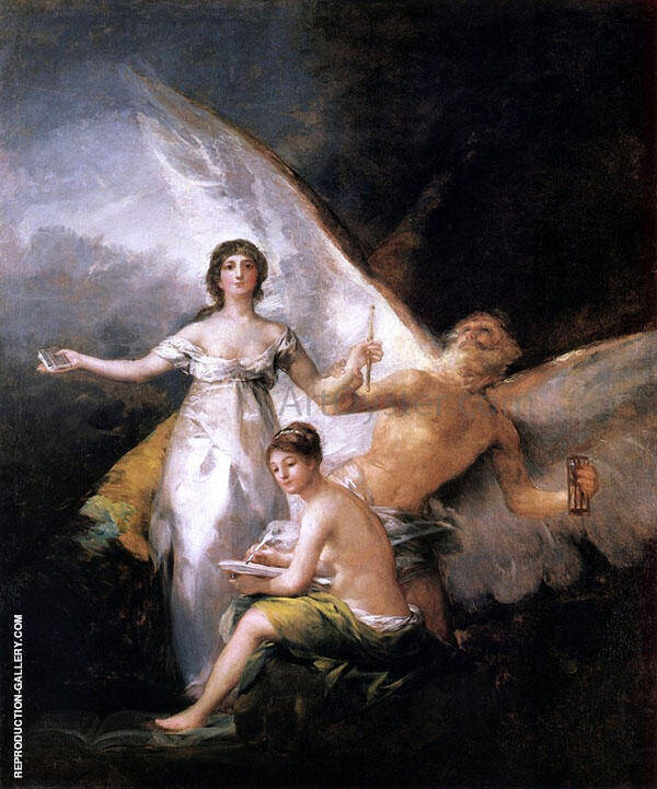 Allegory on the Adaption of the Constitution 1812 By Francisco Goya