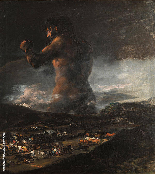 The Colossus Painting By Francisco Goya - Reproduction Gallery