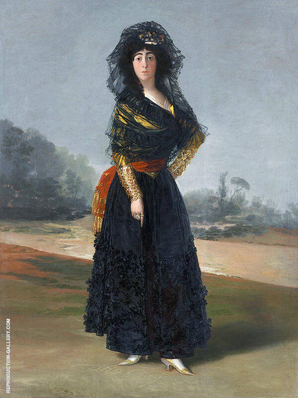 Portrait of the Duchess of Alba, The Black Duchess 1797 By Francisco Goya