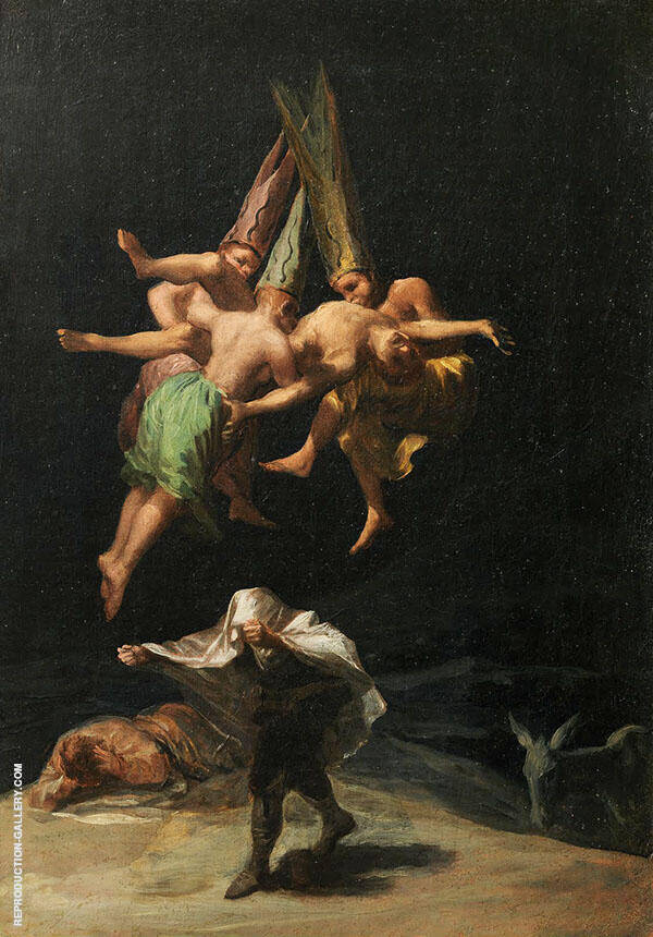 Witches in the Air By Francisco Goya