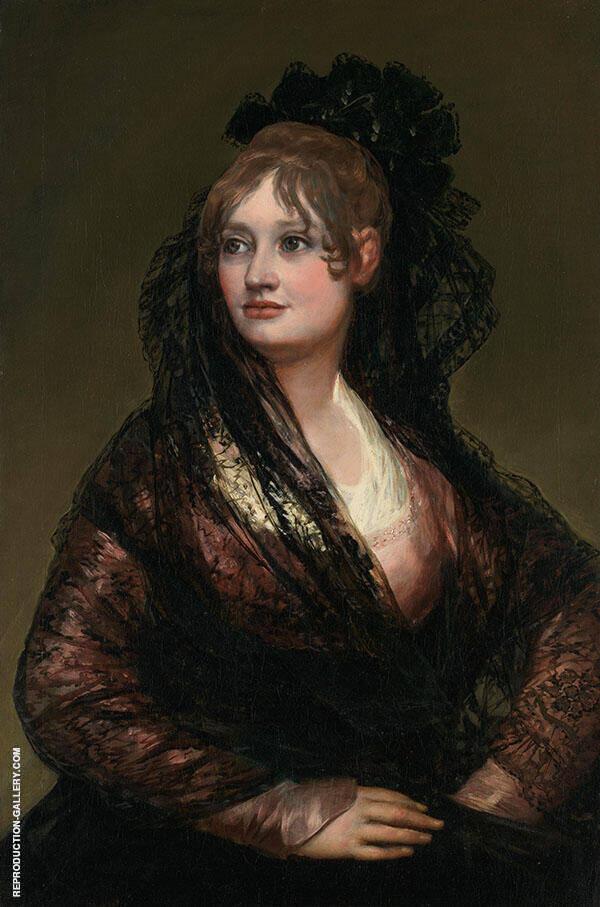 Portrait of Dona Isabel Cobos de Porcel 1805 By Francisco Goya