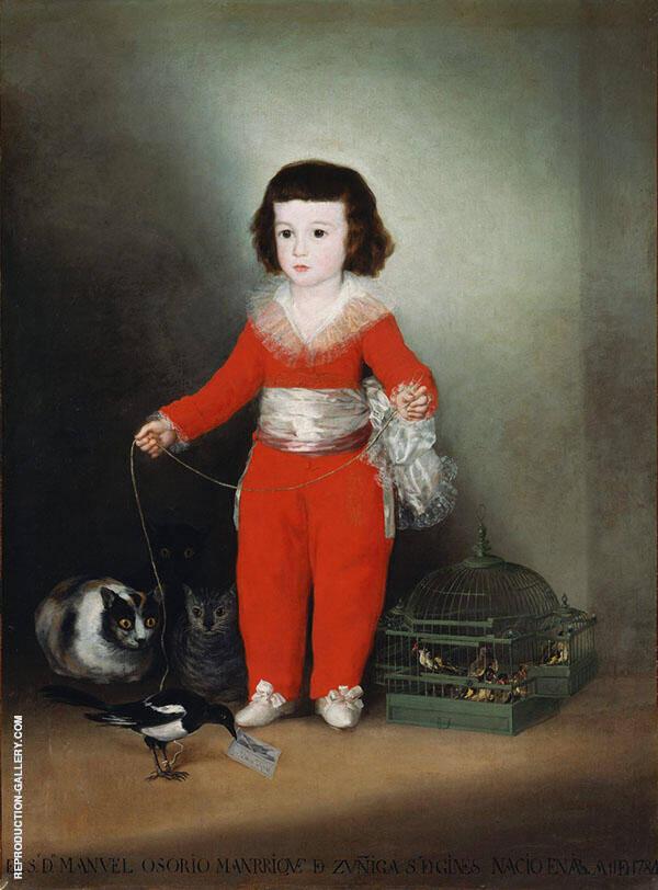 Manuel Osorio Manrique de Zuniga Painting By Francisco Goya
