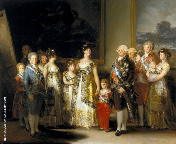 King Charles IV of Spain with his Family c1800 By Francisco Goya