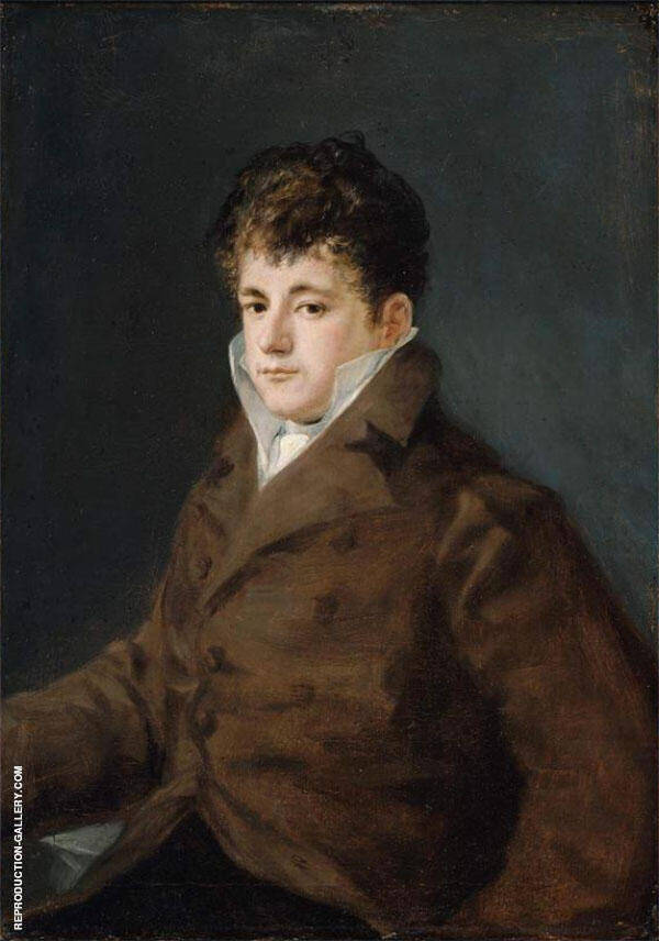 Portrait of a Young Man in Brown By Francisco Goya
