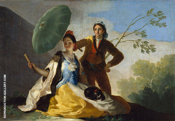 The Parasol c1777 Painting By Francisco Goya - Reproduction Gallery