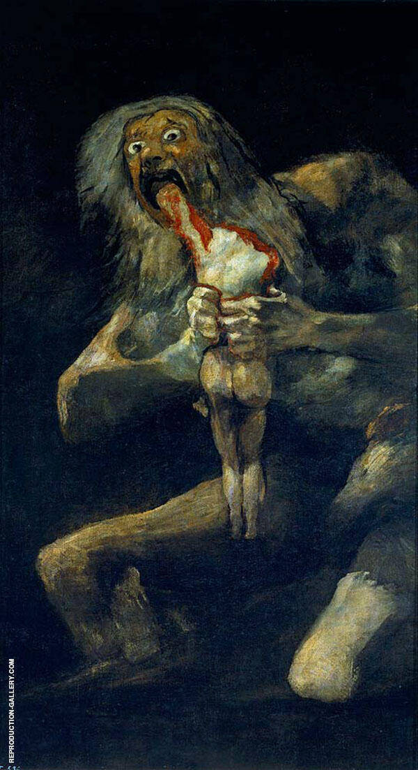 Saturn Devouring his Son Painting By Francisco Goya - Reproduction Gallery