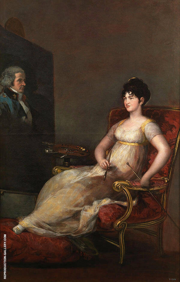 Maria Tomasa Palafox, The 12th Marchioness of Villafranca By Francisco Goya