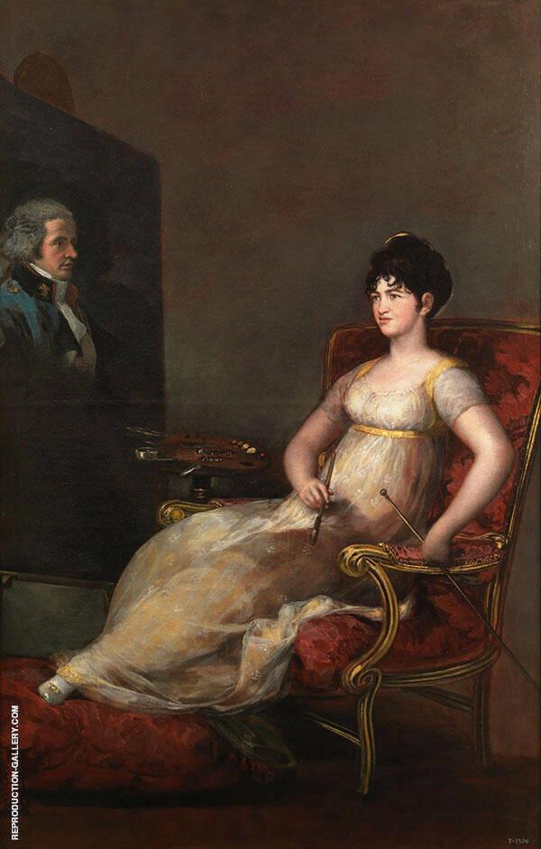 Maria Tomasa Palafox, The 12th Marchioness of Villafranca By Francisco Goya