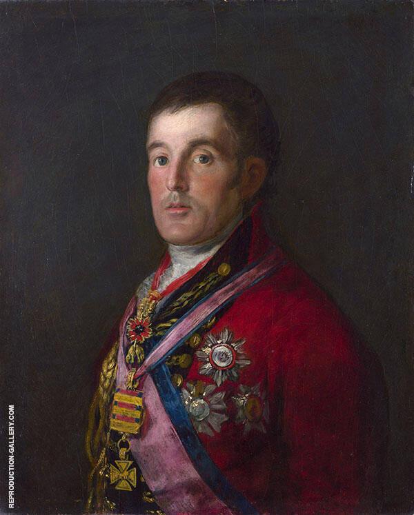 Portrait of the Duke of Wellington c1812 By Francisco Goya