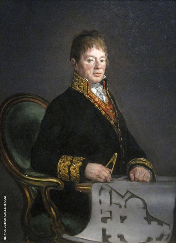 Portrait of Juan Antonio Cuervo 1819 By Francisco Goya