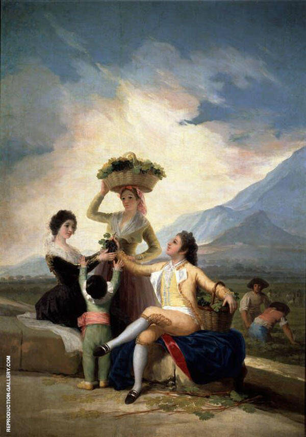 The Grape Harvest 1786 By Francisco Goya