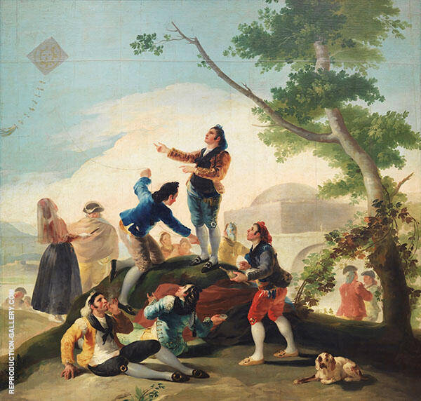 The Kite c1777 By Francisco Goya