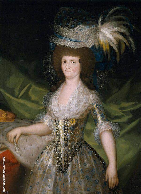 Queen of Spain Maria Louisa, nee Bourbon-Parma c1789 By Francisco Goya