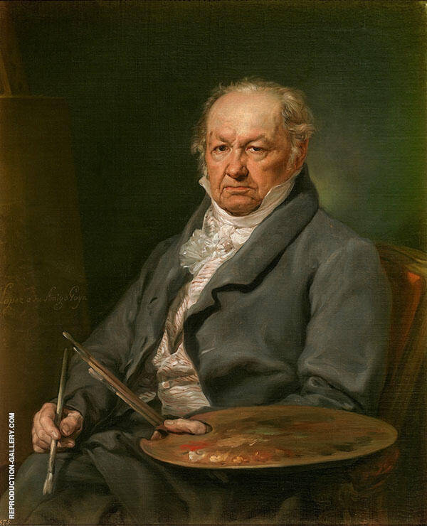 The Painter Francisco de Goya 1826 By Francisco Goya