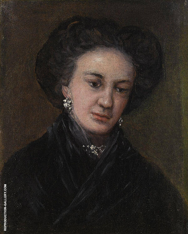 Portrait of the Actress Rita Luna 1818 By Francisco Goya