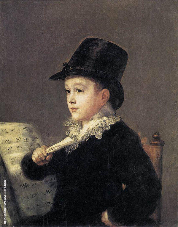 Portrait of Mariano Goya, the Artist's Grandson c1812 By Francisco Goya
