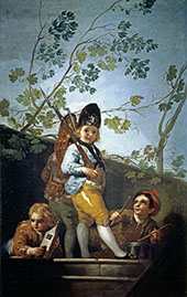 Boys Playing at Soldiers 1779 By Francisco Goya