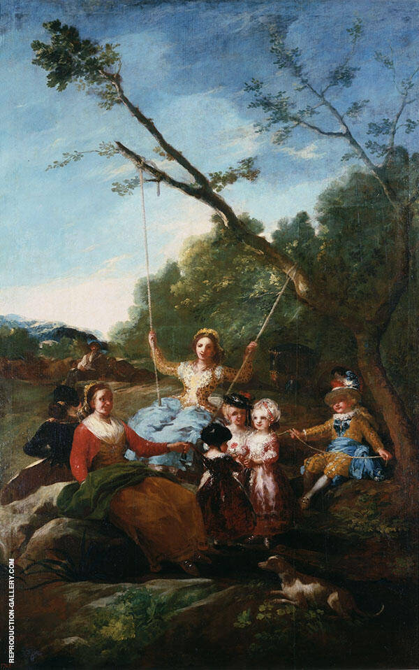 The Swing 1779 Painting By Francisco Goya - Reproduction Gallery