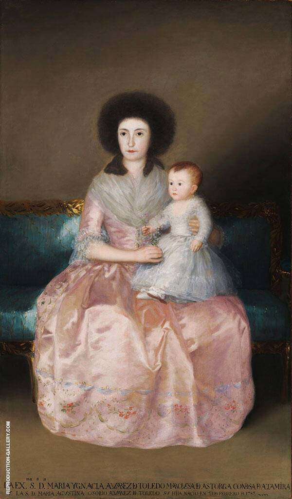 Countess of Altamira and her Daughter Maria Agustina c1787 By Francisco Goya