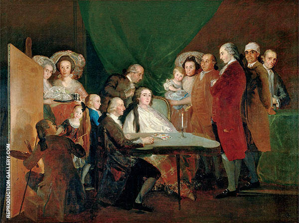 The Family of the Infante Don Luis c1783 By Francisco Goya
