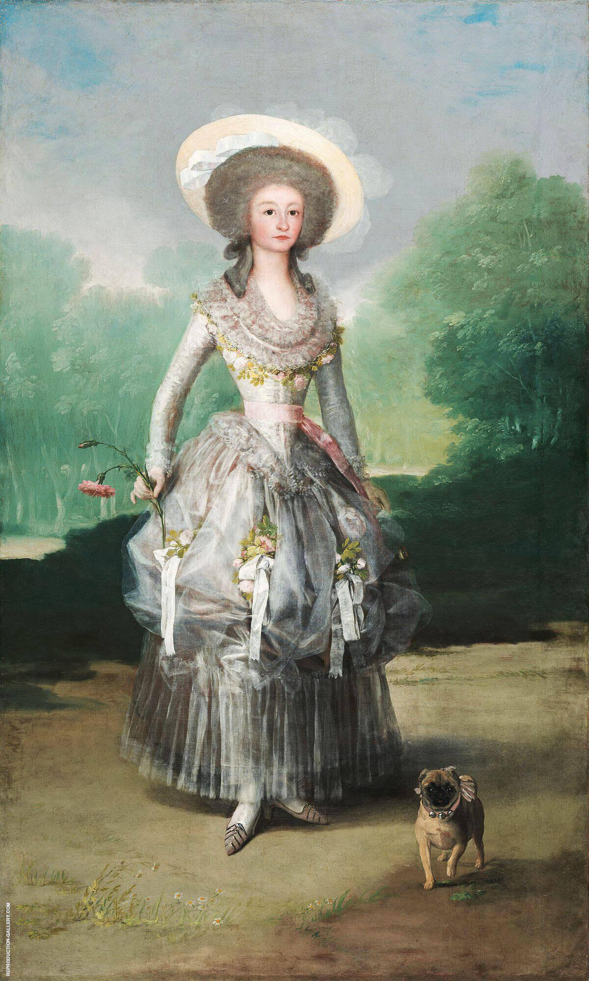 The Marquesa de Pontejos c1786 By Francisco Goya