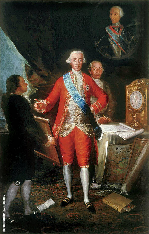 Jose Monino, 1st County of Floridablanca 1783 By Francisco Goya