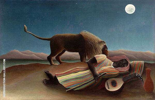 The Sleeping Gypsy 1897 By Henri Rousseau