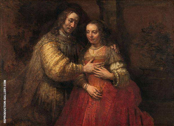 Issac and Rebecca, The Jewish Bride, 1665 Painting By Rembrandt Van Rijn