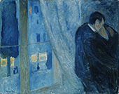 The Kiss by the Window 1892 By Edvard Munch