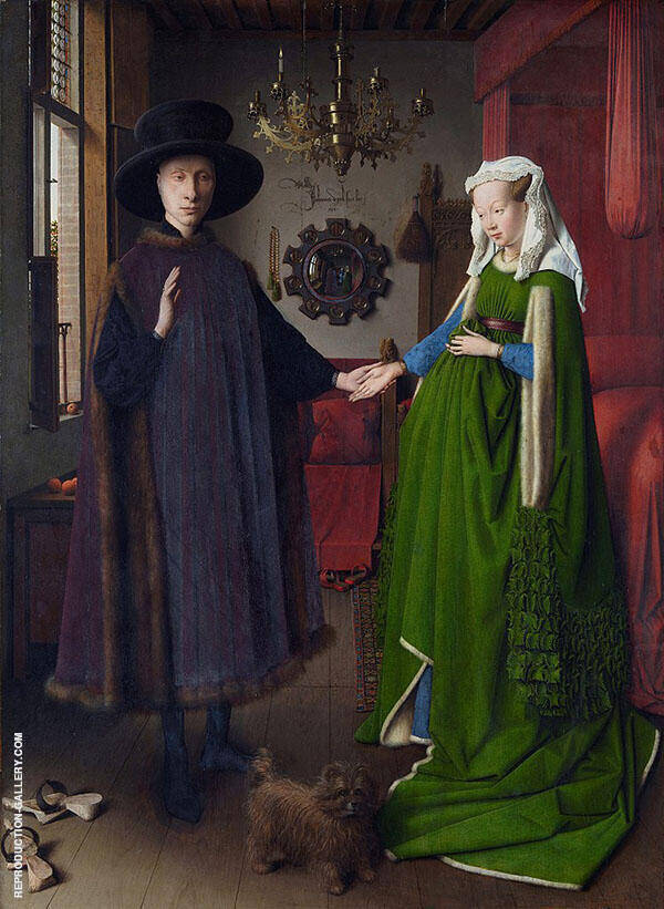 The Arnolfini Marriage 1434 By Jan van Eyck