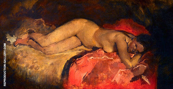 Reclining Nude 1887 Painting By George Hendrik Breitner