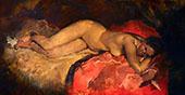 Reclining Nude 1887 By George Hendrik Breitner