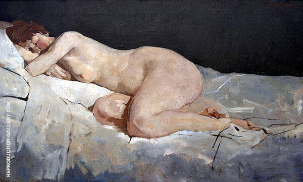 Reclining Nude White Sheets 1888 By George Hendrik Breitner