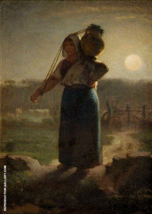 A Milkmaid c1853 By Jean Francois Millet