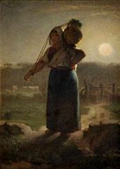 A Milkmaid c1853 By Jean Francois Millet