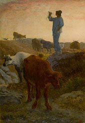 Calling Home the Cattle c1866 By Jean Francois Millet