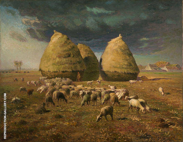 Haystacks Autumn 1874 By Jean Francois Millet
