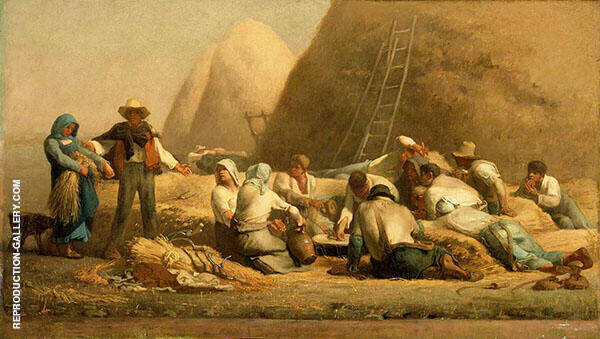 Harvesters Resting in the Field (Ruth and Boaz c1850 By Jean Francois Millet