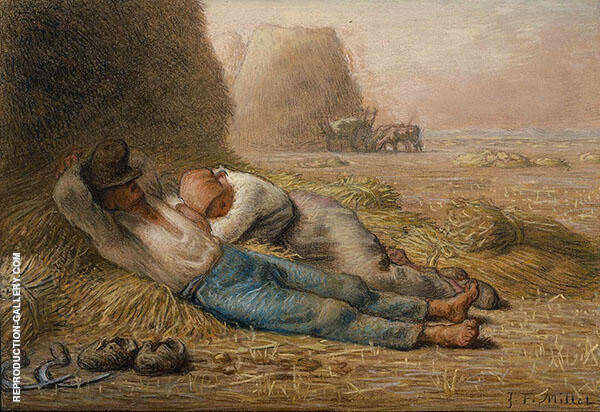Noonday Rest 1886 By Jean Francois Millet