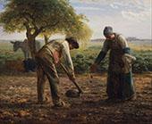 Potato Planders c1861 By Jean Francois Millet