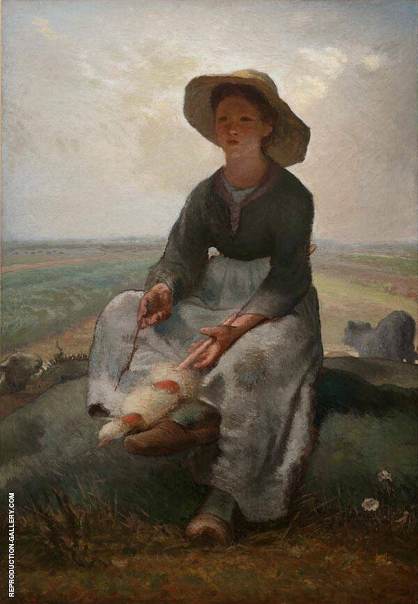 The Young Shepherdess c1873 By Jean Francois Millet