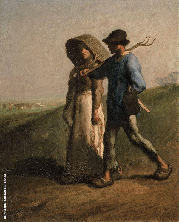 Going to Work c1851 By Jean Francois Millet