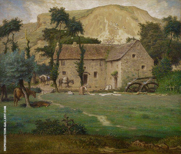 The Farmhouse By Jean Francois Millet