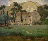The Farmhouse By Jean Francois Millet