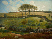 A Pasture Near Cherbourg 1861 By Jean Francois Millet
