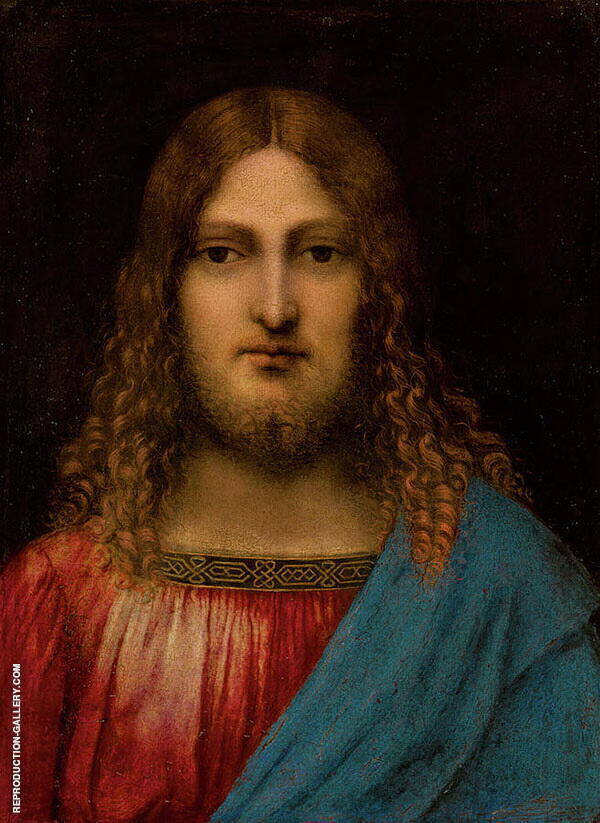 The Bust of Christ Painting By Leonardo da Vinci - Reproduction Gallery